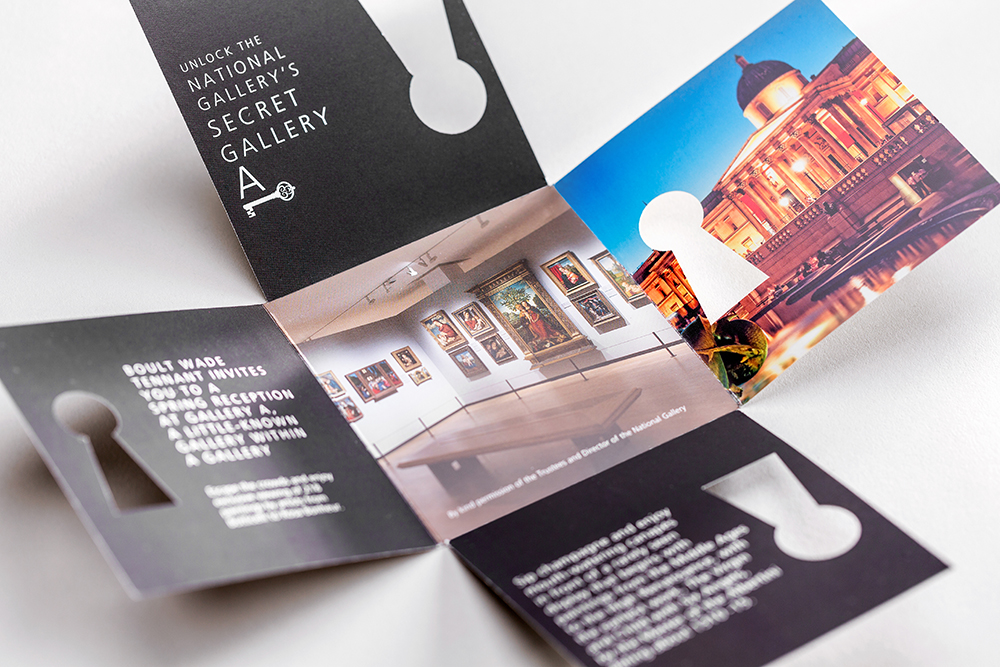 Mint Leeds Printing Invitation to National Gallery, collaborative design agency in leeds