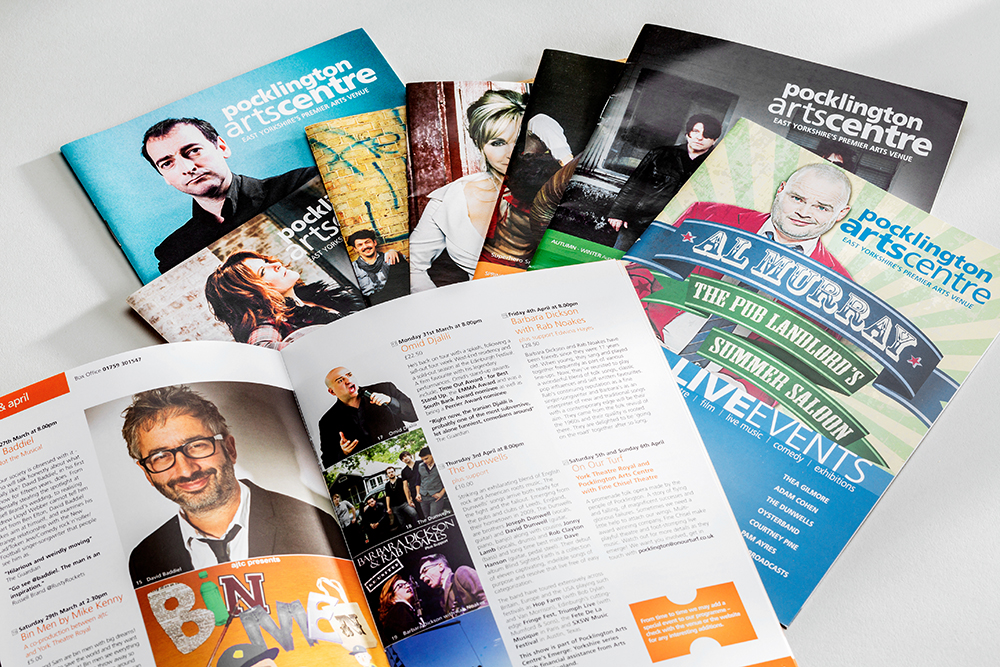 Printing Design By Mint Pocklington Arts centre, collabrative design agency in leeds